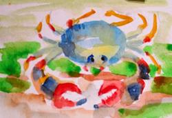 Art: Crab Aceo by Artist Delilah Smith