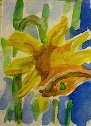 Art: Spring Daffodil by Artist Delilah Smith