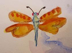 Art: Orange Wings by Artist Delilah Smith