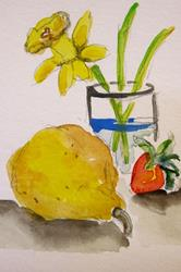 Art: Still Life Aceo by Artist Delilah Smith