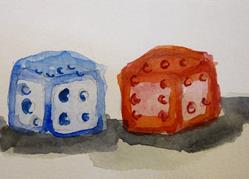 Art: Dice by Artist Delilah Smith