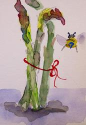 Art: Asparagus Aceo by Artist Delilah Smith