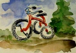 Art: Tricycle Aceo by Artist Delilah Smith