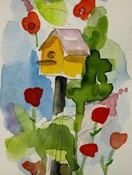 Art: Birdhouse Garden by Artist Delilah Smith