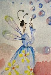 Art: Bubble Fairy-sold by Artist Delilah Smith