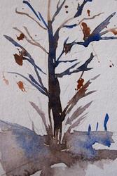Art: Fall Tree by Artist Delilah Smith