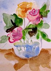 Art: Roses by Artist Delilah Smith