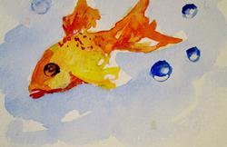 Art: Orange Fish by Artist Delilah Smith