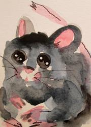 Art: Big Eyed Mouse by Artist Delilah Smith