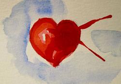Art: Broken Heart by Artist Delilah Smith