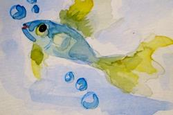 Art: Blue Fish by Artist Delilah Smith