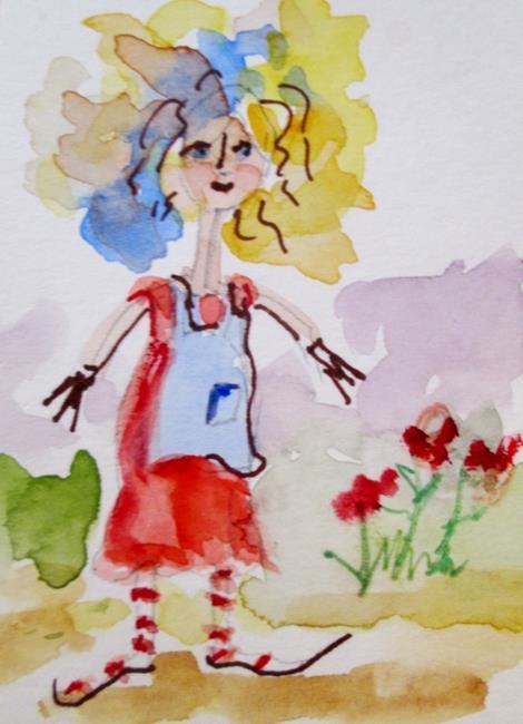 Art: Garden Girl by Artist Delilah Smith