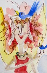 Art: Blue Bird Fairy by Artist Delilah Smith