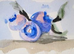 Art: Blue Berry Still Life by Artist Delilah Smith