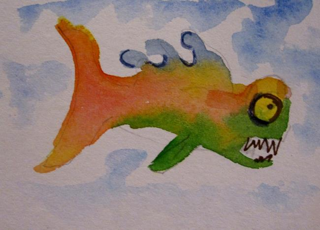 Art: Mean Fish by Artist Delilah Smith
