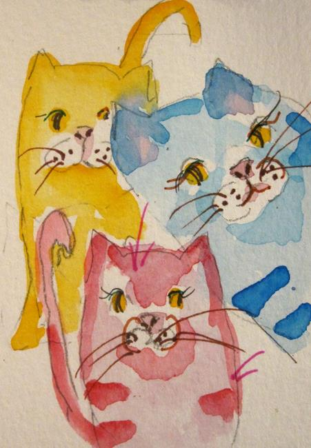 Art: Pastel Cats by Artist Delilah Smith