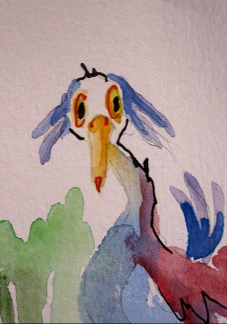 Art: Odd Bird by Artist Delilah Smith