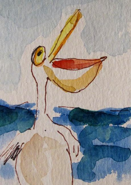 Art: Hungry Pelican by Artist Delilah Smith