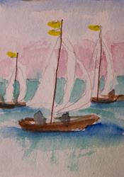 Art: Sail Boat No. 4 by Artist Delilah Smith