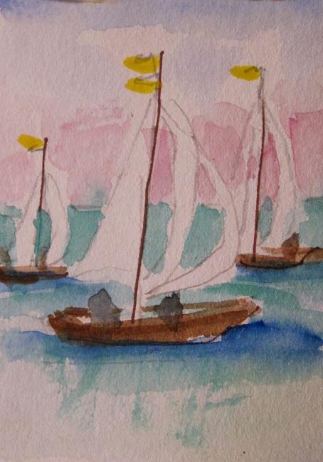 Art: Sail Boat No. 4 by Artist Delilah Smith