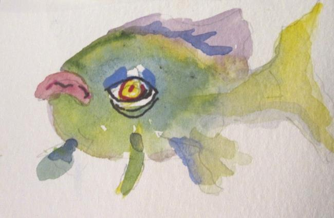 Art: Pink Lipped Fish by Artist Delilah Smith
