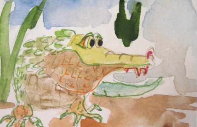 Art: Alligator by Artist Delilah Smith