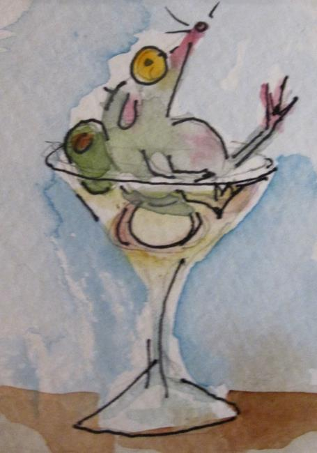 Art: Martini Mouse-sold by Artist Delilah Smith