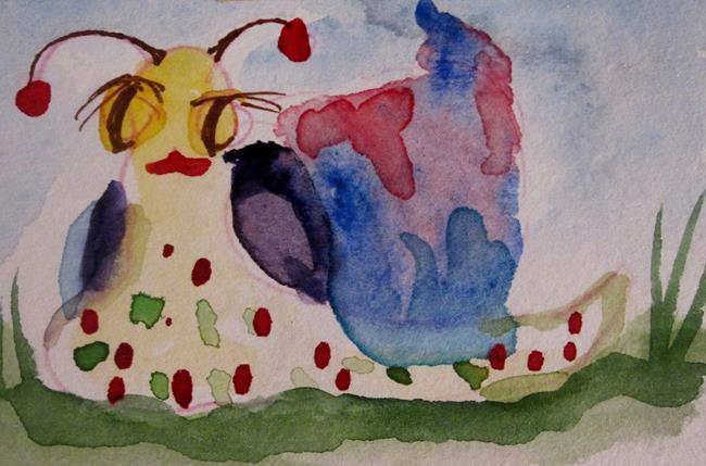 Art: Poka Dot Snail by Artist Delilah Smith