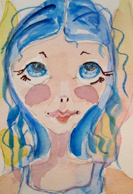 Art: Blue Eyed Fairy by Artist Delilah Smith