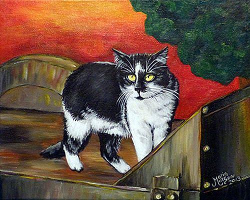 Art: Farm Cat (SOLD) by Artist Monique Morin Matson