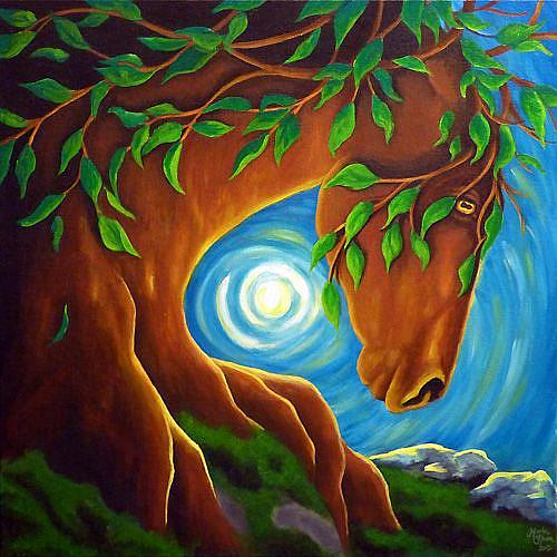 Art: Earth Elder  (SOLD) by Artist Monique Morin Matson