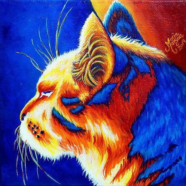 Art: Basking (SOLD) by Artist Monique Morin Matson