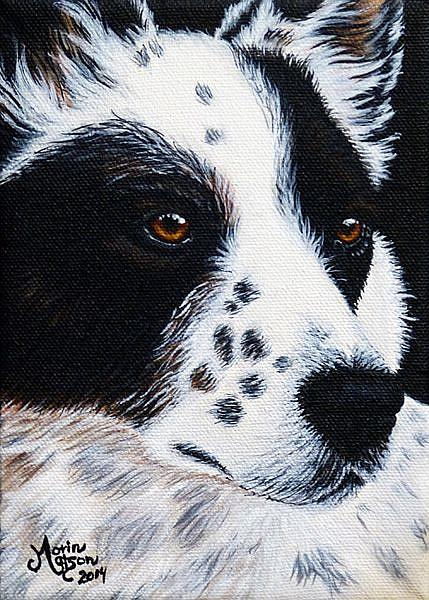 Art: Herding Dog  (SOLD) by Artist Monique Morin Matson