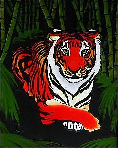 Art: Bamboo Tiger  (SOLD) by Artist Monique Morin Matson