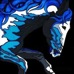 Art: Water Horse  (SOLD) by Artist Monique Morin Matson