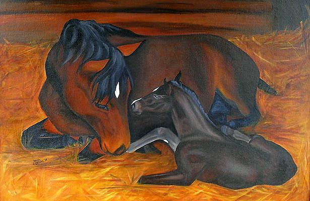 Art: First Meeting  (SOLD) by Artist Monique Morin Matson