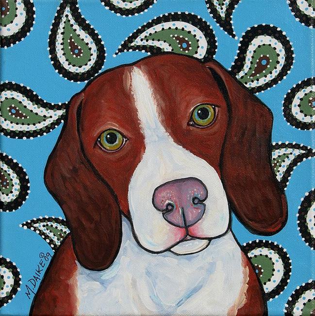 Art: Retro Beagle by Artist Melinda Dalke