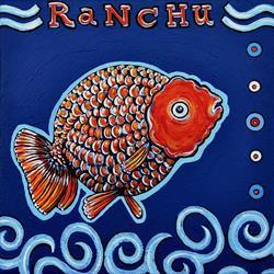 Art: Ranchu Waves 1 by Artist Melinda Dalke