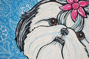 Detail Image for art Paisley Shih Tzu
