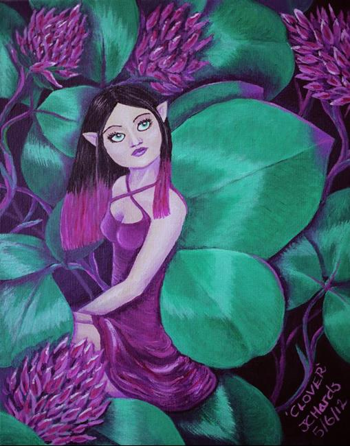 Art: Clover by Artist Jo Hards