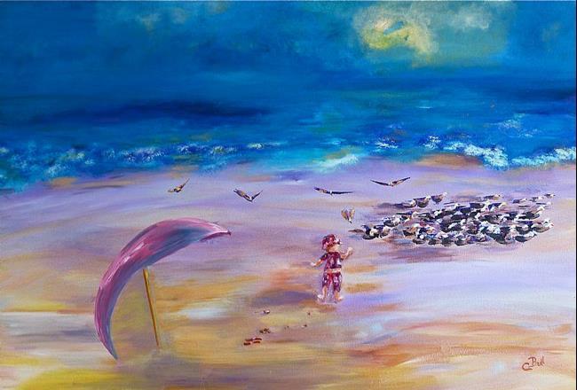 Art: Beach Baby by Artist Claire Bull