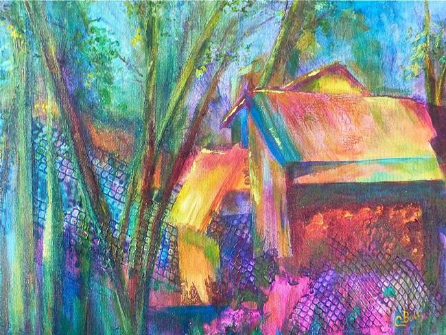 Art: Garden Shed by Artist Claire Bull