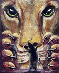 Art: The Lion and the Mouse by Artist Madeline  Carol Matz
