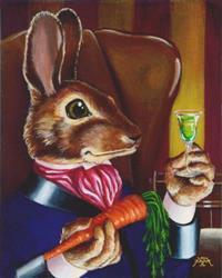 Art: An After Dinner Carrot by Artist Madeline  Carol Matz