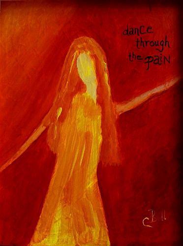 Art: Dance Through the Pain by Artist Claire Bull