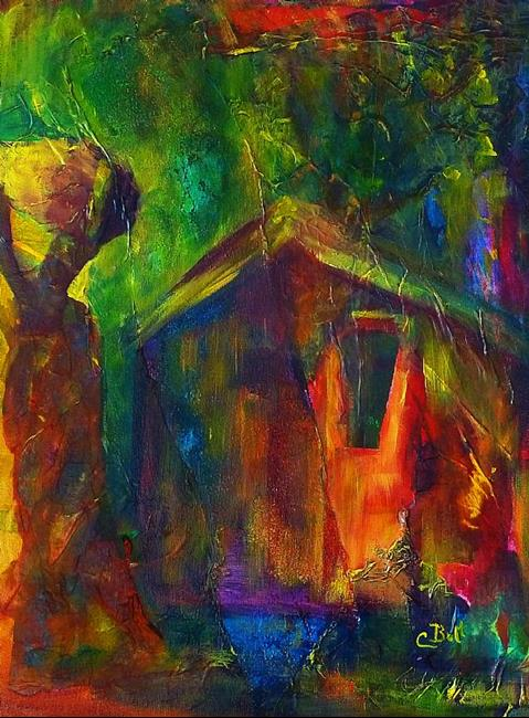 Art: House and Home by Artist Claire Bull