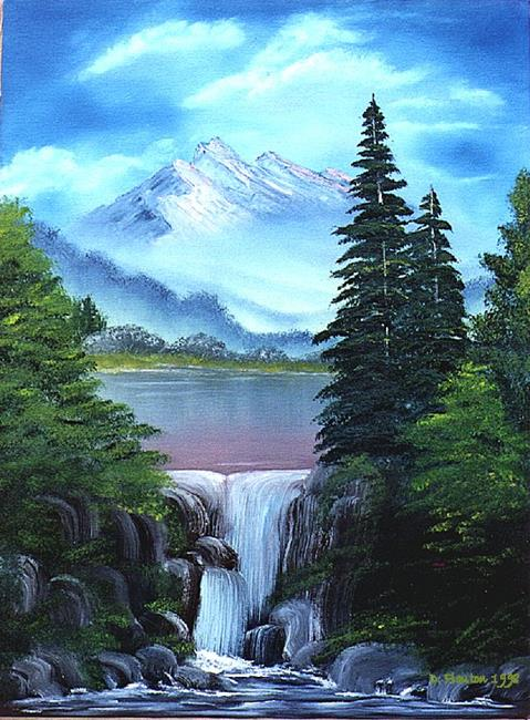 Art: Waterfall Pines by Artist Deanne Flouton