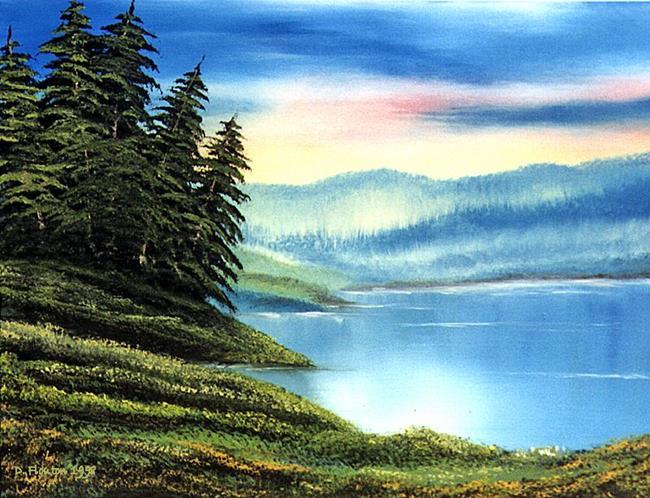 Art: Lakeside Pines by Artist Deanne Flouton
