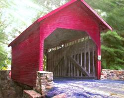 Art: Roddy Road Covered Bridge by Artist Anthony Allegro