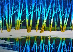 Art: Winter Birches by Artist Deanne Flouton